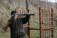 Explanation of the rib of the gun and gun fitting session to enable broken clay pigeons